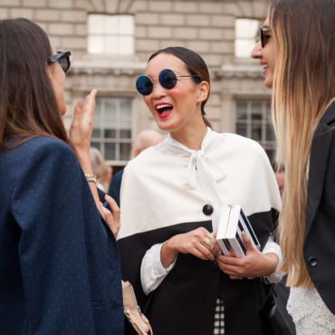 London Fashion Week. Люди в толпе