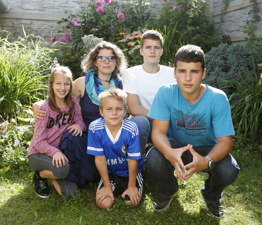 Ольга Писарик со своей семьей