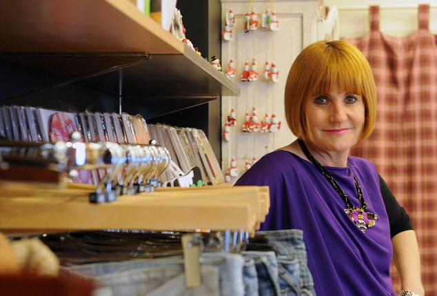 Mary Portas, ¿the Queen of Shops¿ in her new boutique-style, designer charity shop for Save the Children. Living and Giving Shop
