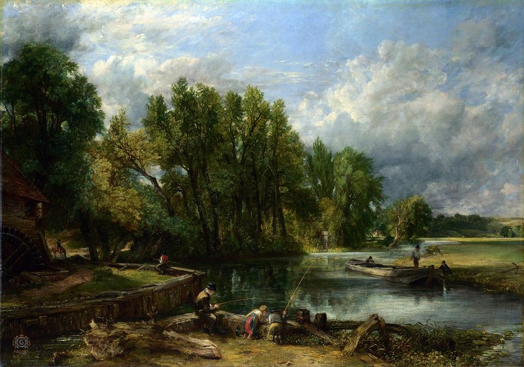 John Constable. Stratford Mill