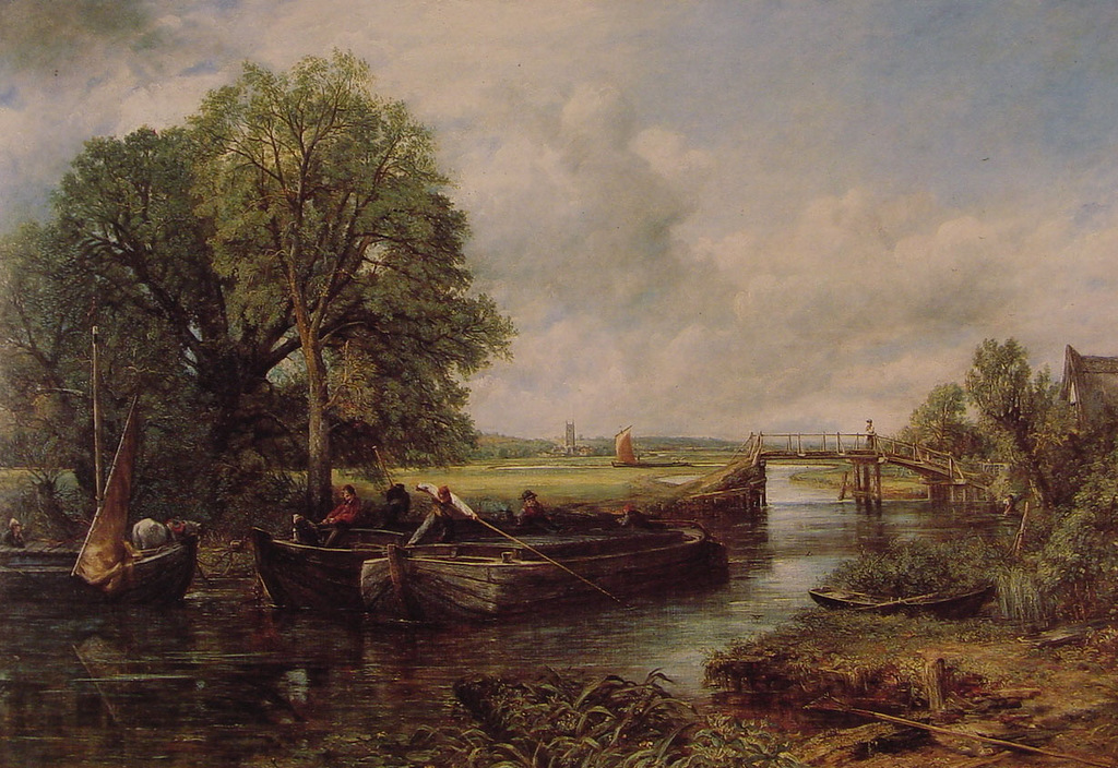 John Constable. A View on the Stour near Dedham