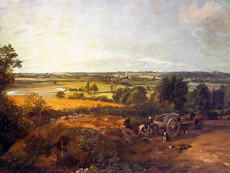 John Constable. Stour Valley and Dedhum Village