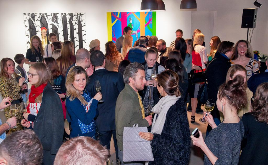 На открытии выставки, Erarta Galleries London