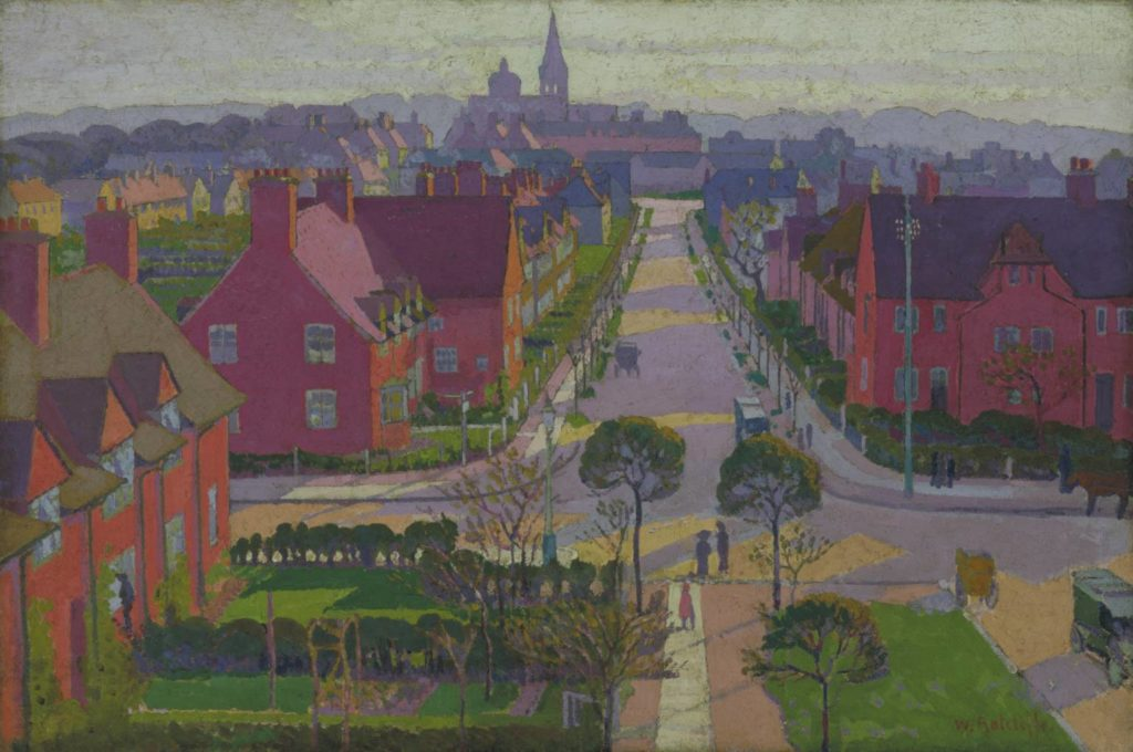 Hampstead Garden Suburb, William Ratcliffe, Tate, 1914