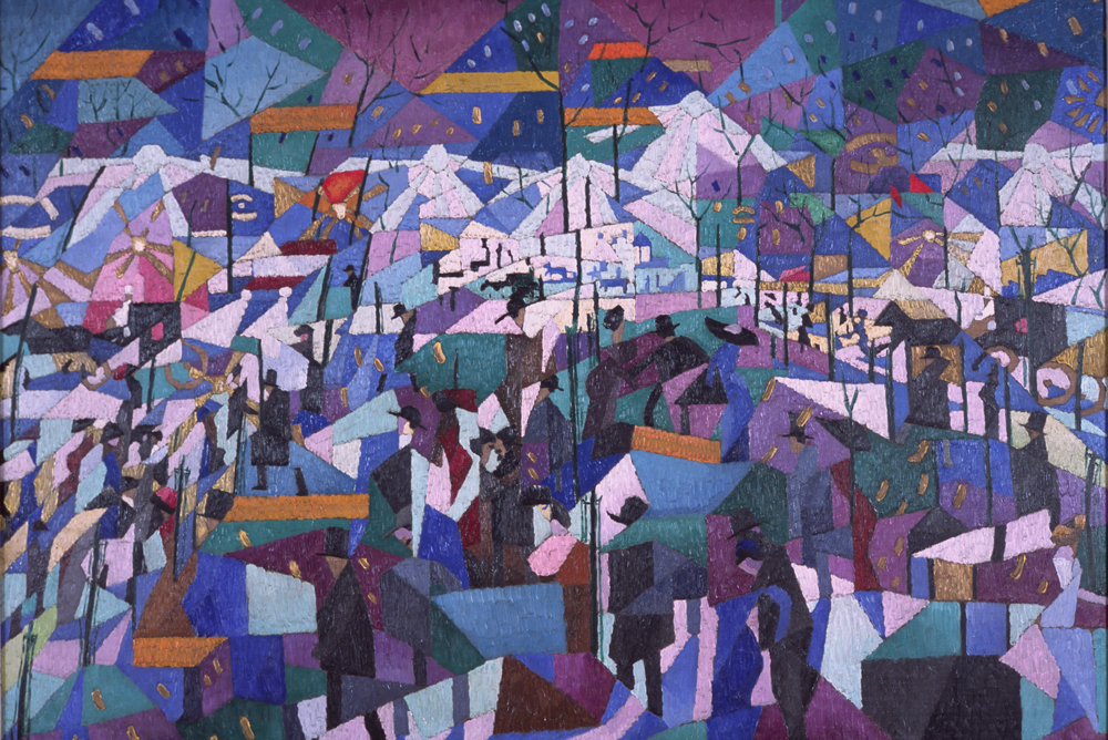 Gino Severini, The Boulevard, 1910-1911
