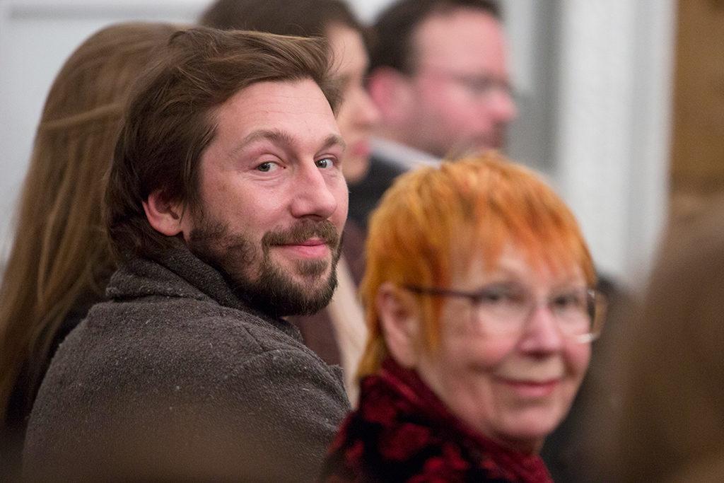 Встреча с Евгенией Альбац. Фото: Дария Конурбаева