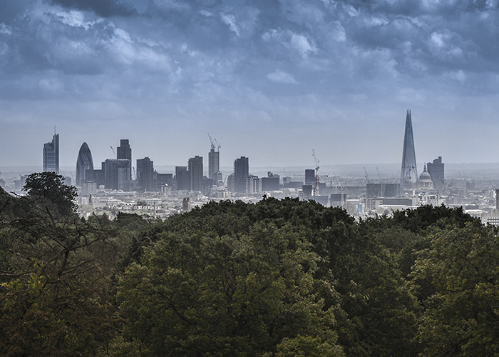 London view from Hampstead Heath
