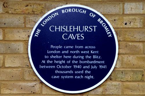 Chislehurst caves - sign