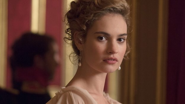 Lily James as Natasha Rostova