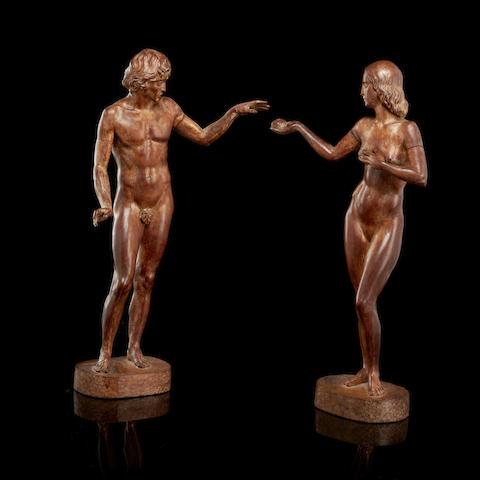 Скульптура Глеба Дерюжинского «Адам и Ева» (предварительная оценка - £6000 - £8000)