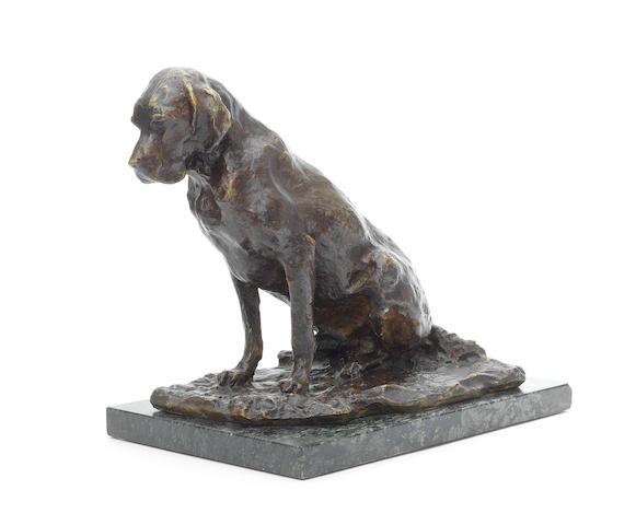 Бронзовая статуя собаки Павла Трубецкого (предварительная оценка £6000 - £8000)