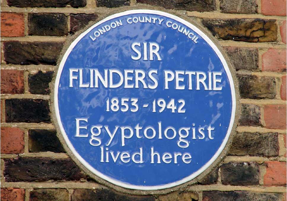 Мемориальная доска на лондонском доме Питри в квартале Хампстед