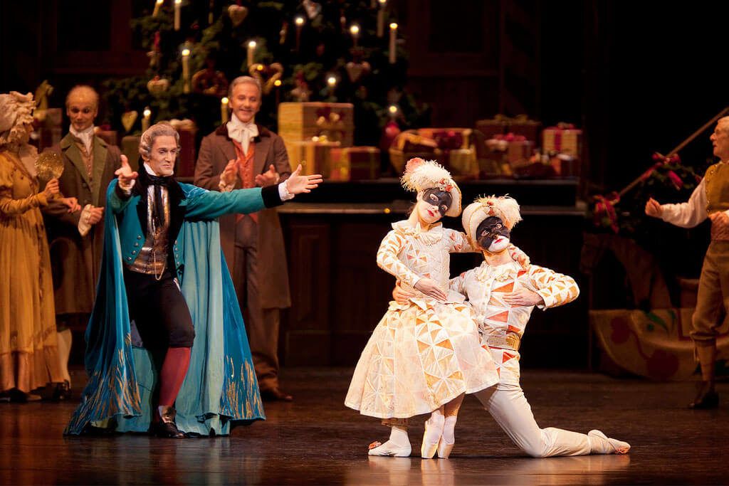 Gary Avis as Drosselmeyer and Brian Maloney and Bethany Keating as Dolls in The Nutcracker ©Johan Persson/ROH 2010
