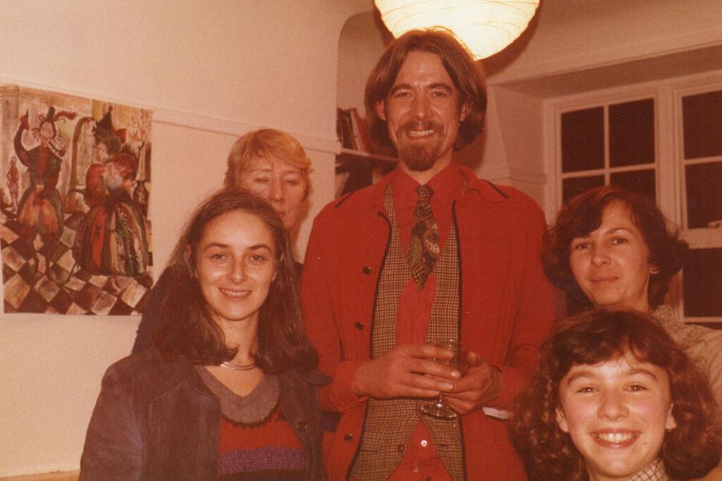 Маша, Робин, моя жена Нина и дочь Рита