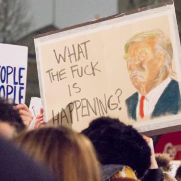 Митинг против Трампа в Лондоне. Полный Whitehall