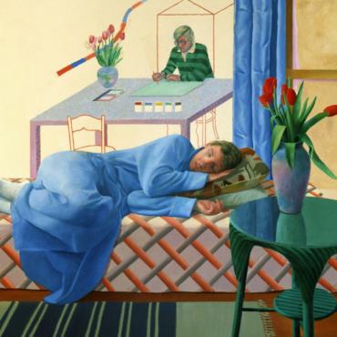 Tate Britain продлевает часы работы выставки Дэвида Хокни