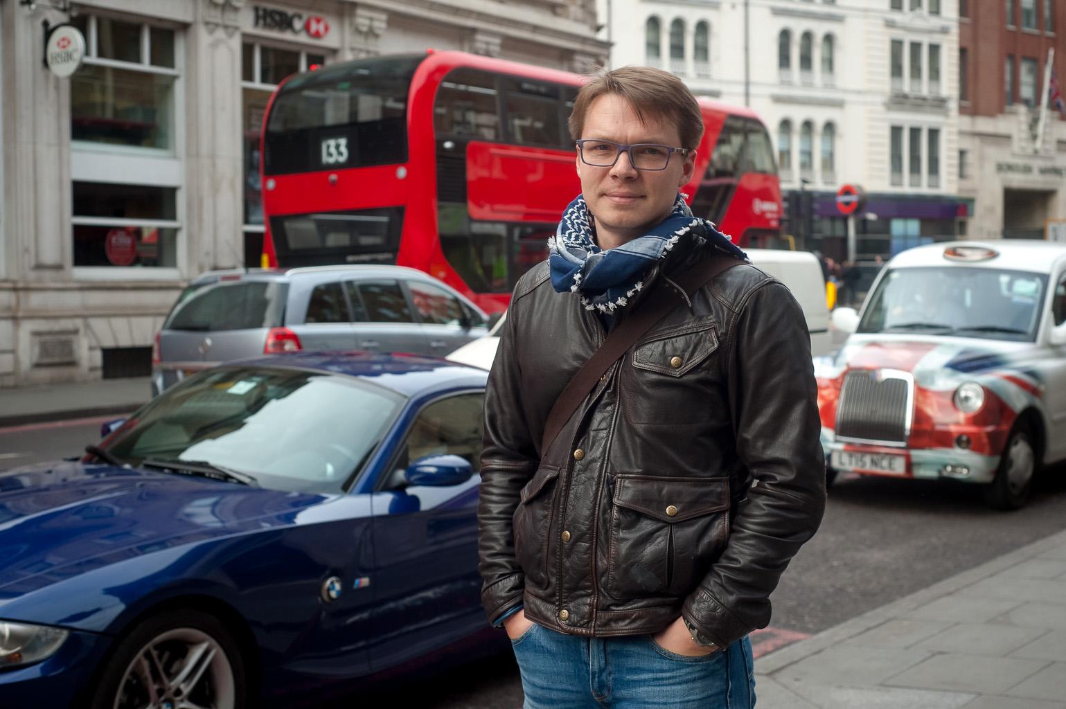 Сергей Пономарев в Лондоне. Фото Катерины Никитиной