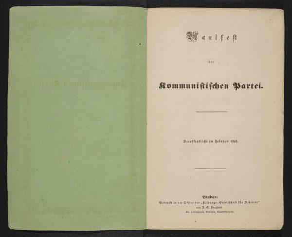 1st Edition of Communist Manifesto. (c) British Library Board
