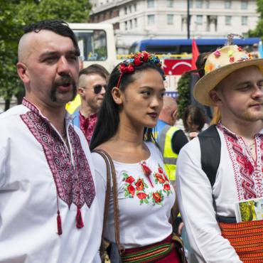 Марш вышиванки в Лондоне в 2017 году собрал больше участников, чем в Киеве, Львове и Харькове (ВИДЕО)