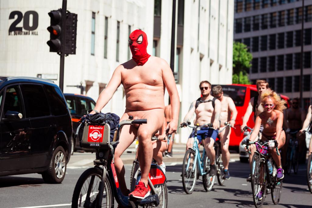Велопробег в городе