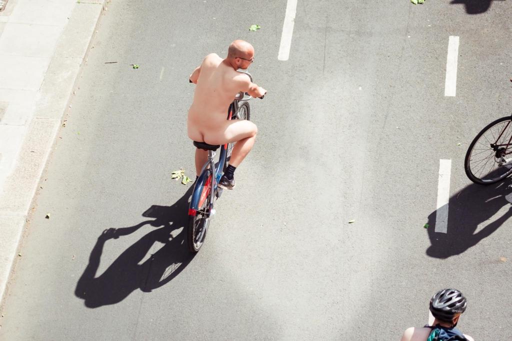Велопробег в летнем городе