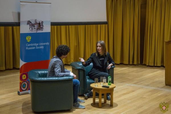 Презентация Ксении Собчак в Кембридже