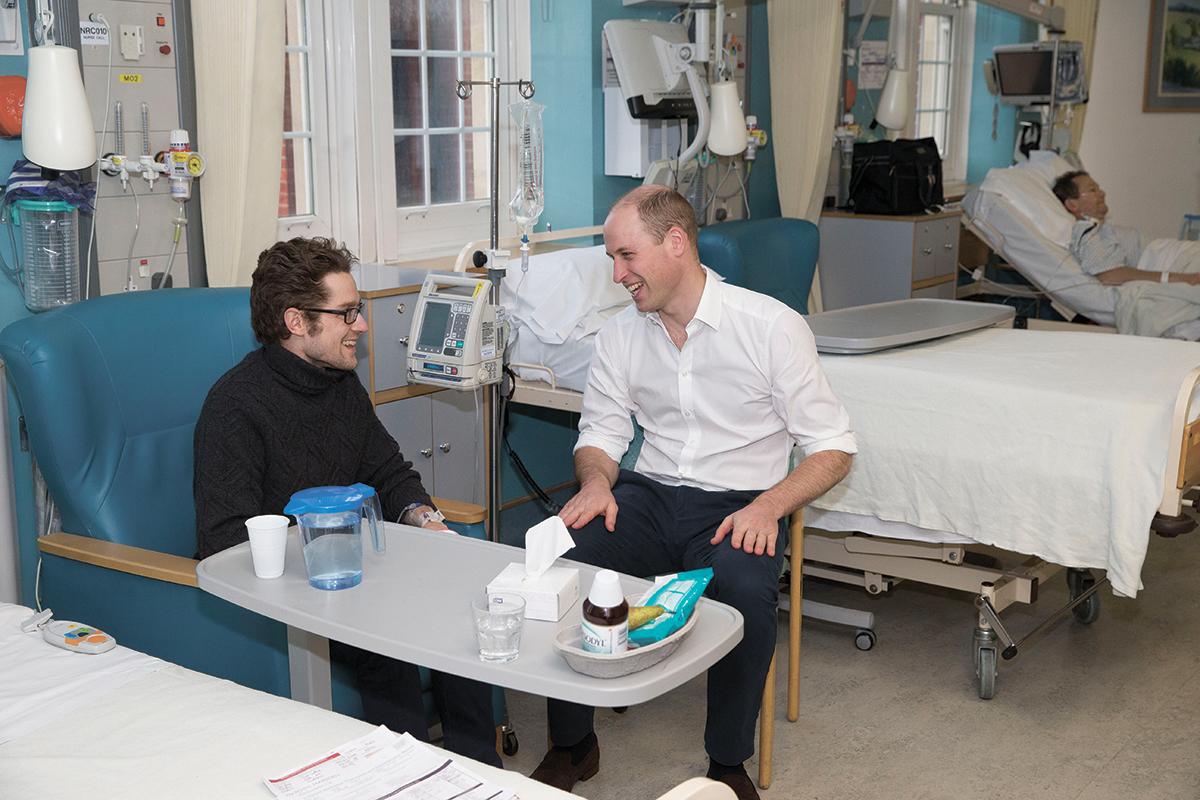 Принц Уильям в клинике Роял Марсден
