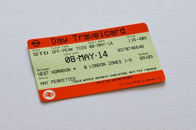 Одноразовый билет в метро Лондона