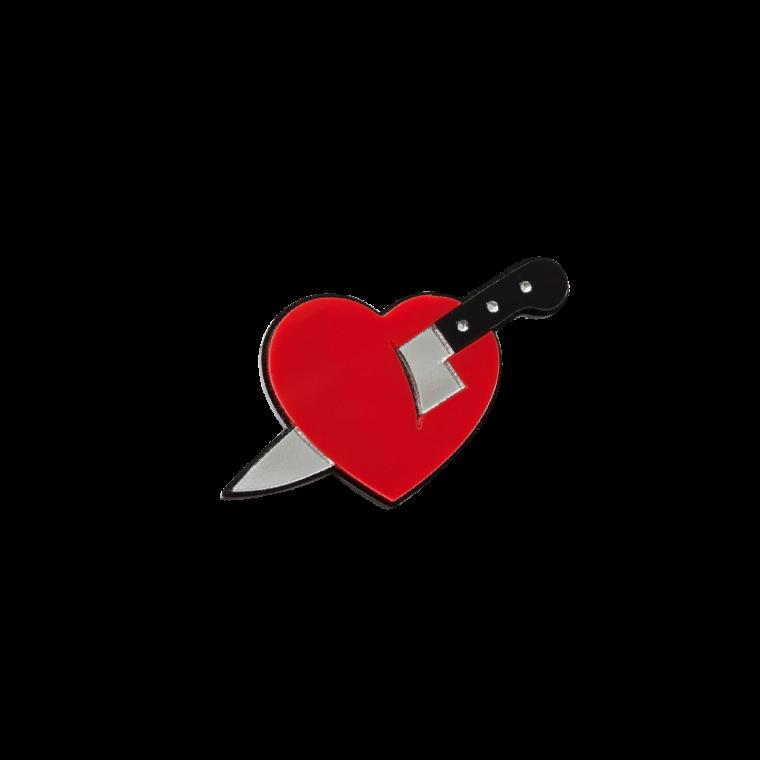 """Брошь """"Нож в сердце"""""""
