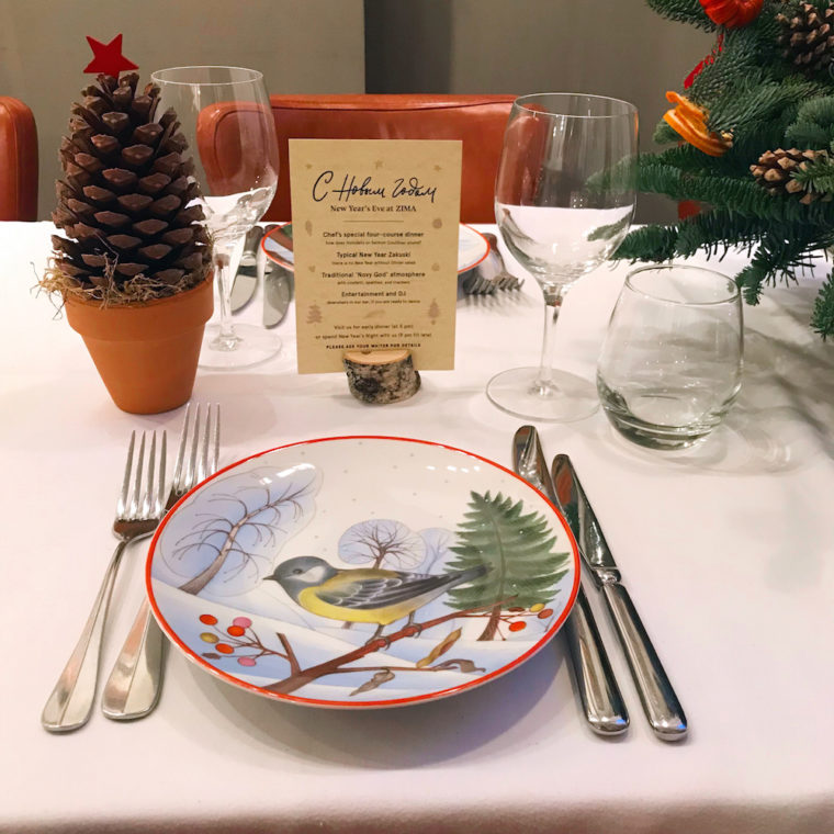 Новый год по-русски в ресторане Zima