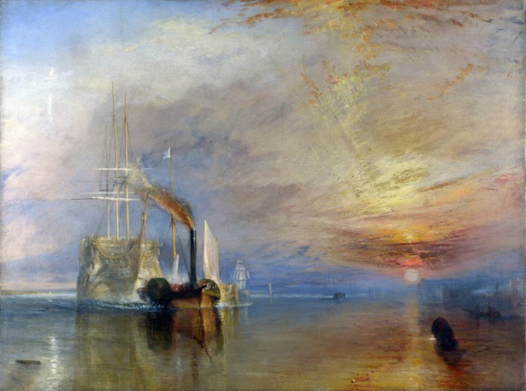 """Уильям Тернер. Последний рейс фрегата """"Отважный"""", 1839. Национальная галерея, Лондон"""