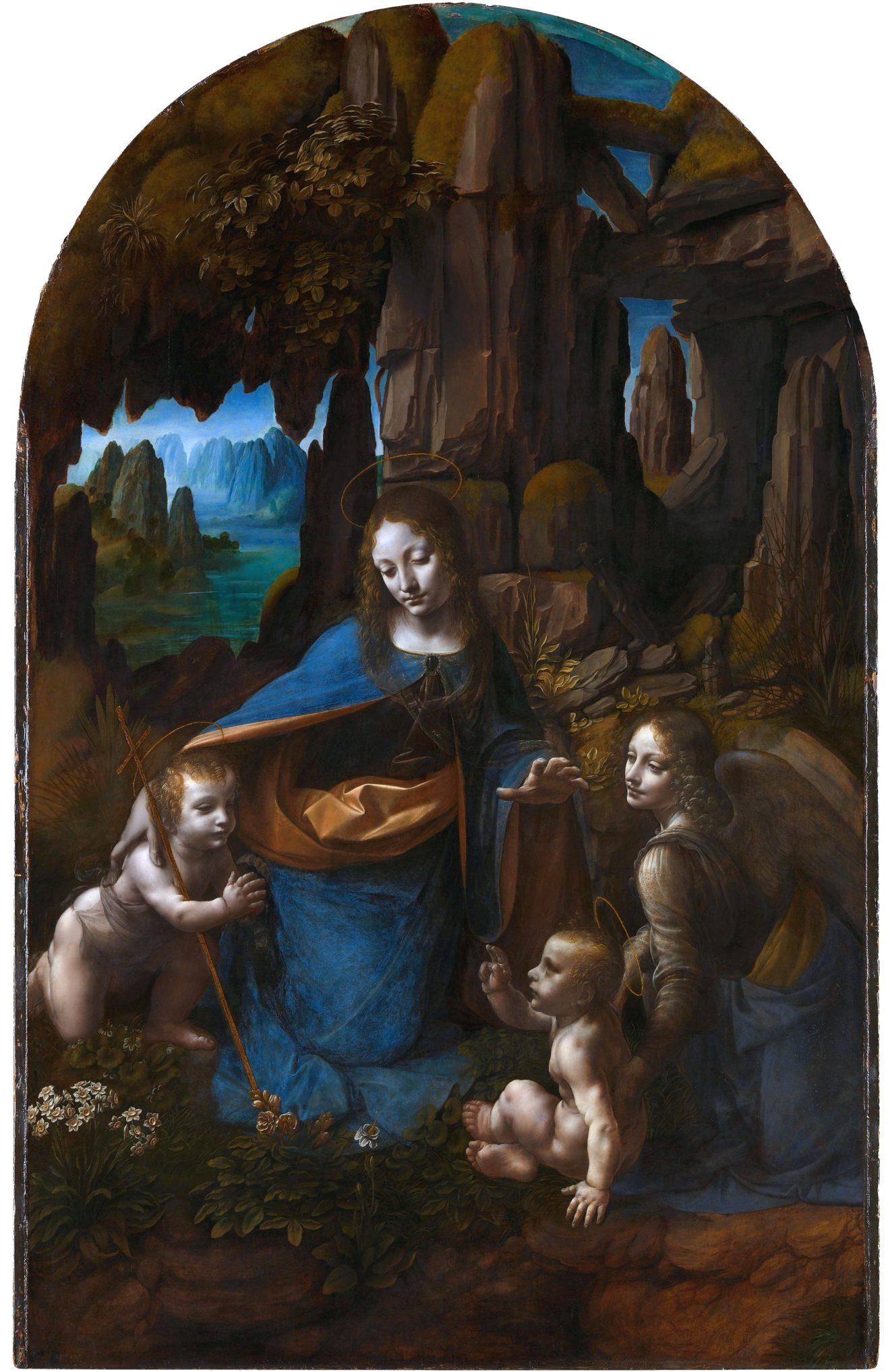 Леонардо да Винчи «Мадонна в скалах». 1508. Национальная галерея. Лондон