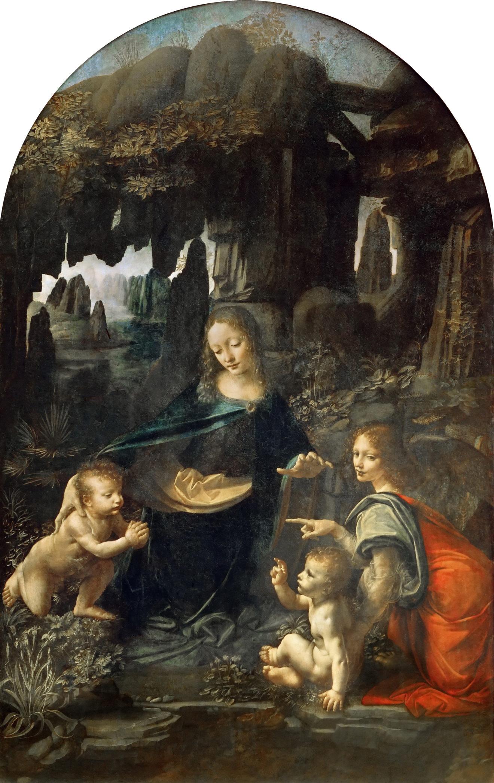 Леонардо да Винчи«Мадонна в скалах». 1486. Лувр, Париж