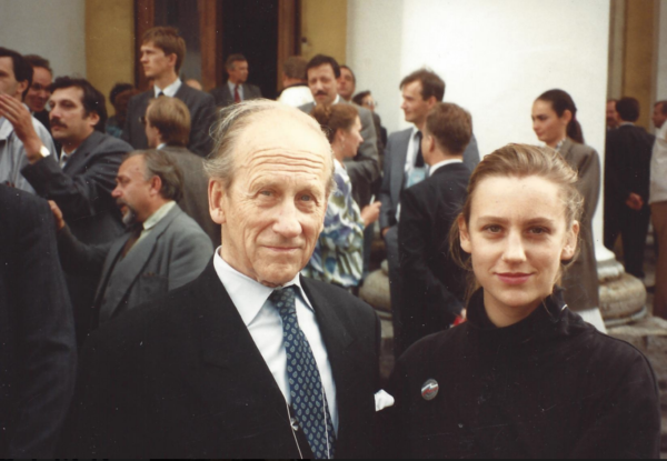 Катя Голицына с отцом князем Голицыным