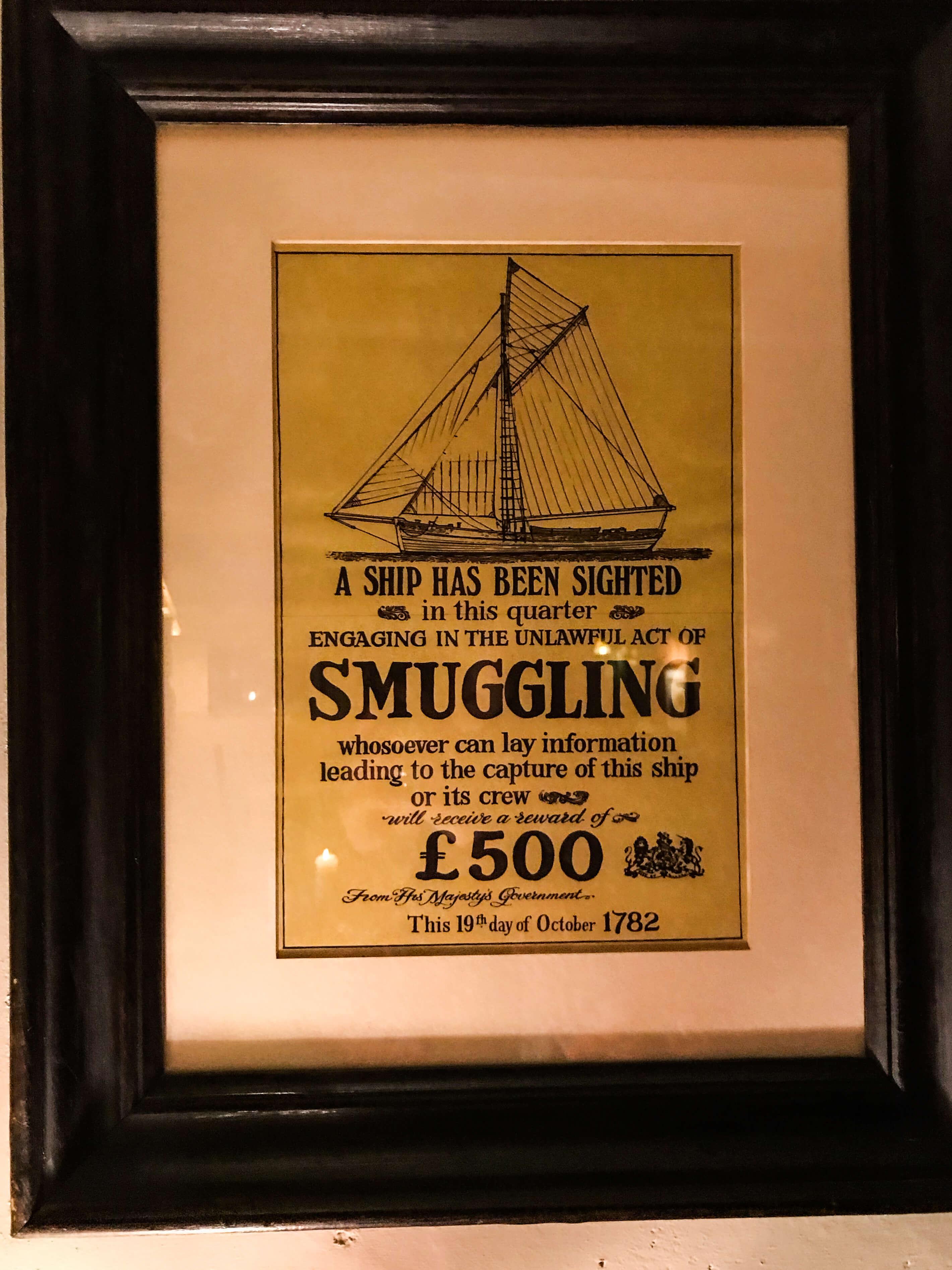 Плакат 1782 года
