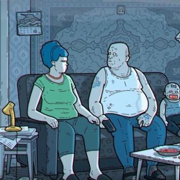 Депрессивные русские Симпсоны (видео). В сети появилась пародия на знаменитый мультсериал