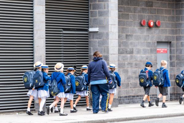 Британские школьники на экскурсии