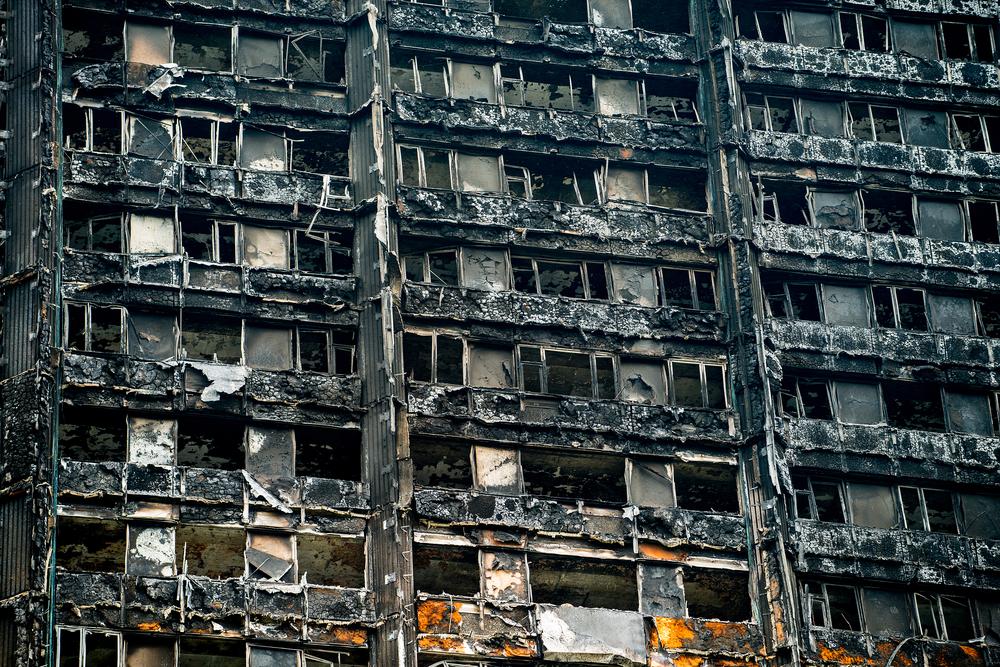 Гренфелл-тауэр после пожара