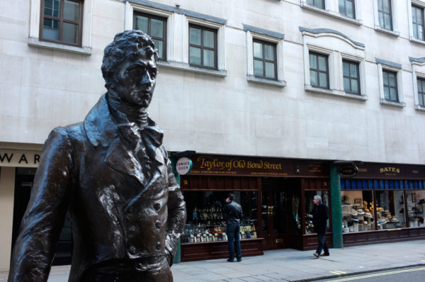 Статуя Бо Браммелла на Джермин-стрит