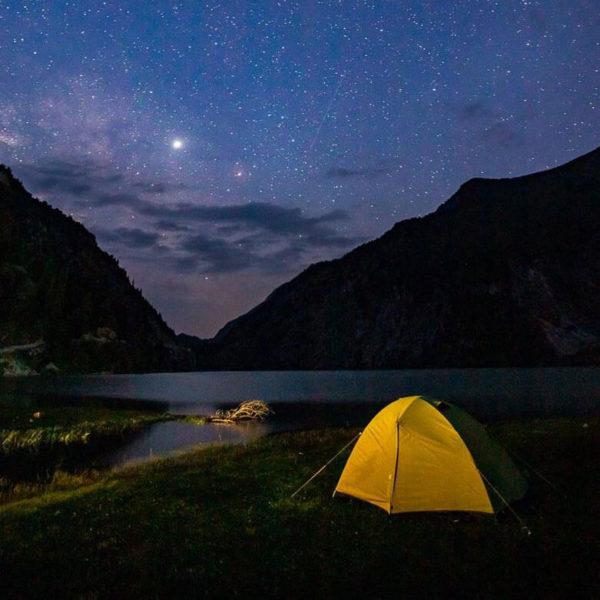 Ночевка у подножия горы