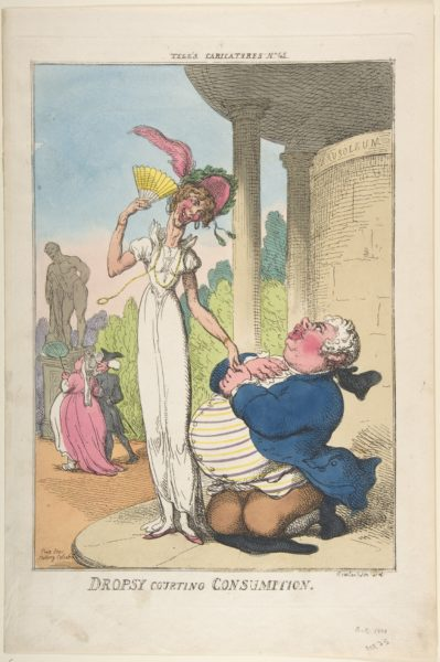 Thomas Rowlandson - Dropsy Courting Consumption
