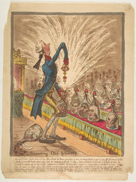 james gillray - Uncorking Old Sherry