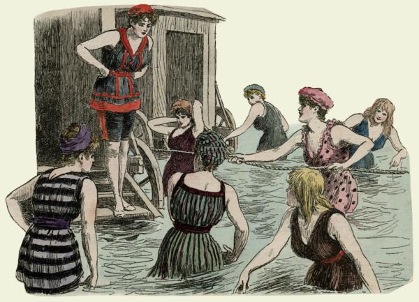 как менялась пляжная мода в Великобритании
