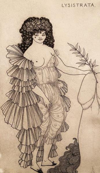 Лисистрата прикрывает свой бугорок Венеры