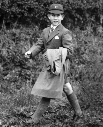 Принц Чарльз по дороге в Cheam School