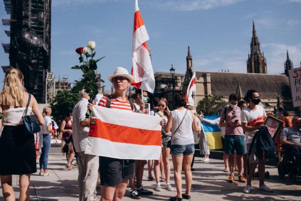 belarussians protest in london