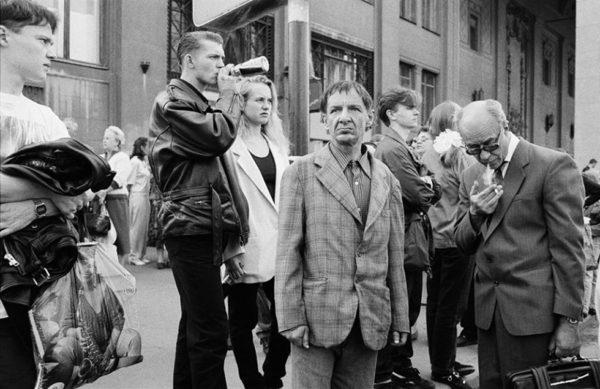 Наблюдающие за праздничной демонстрацией. Триумфальная площадь