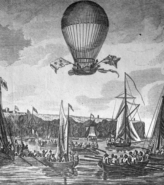Француз Жан Пьер Франсуа Бланшар и американец Джон Джеффрис на воздушном шаре пересекают Ла-Манш
