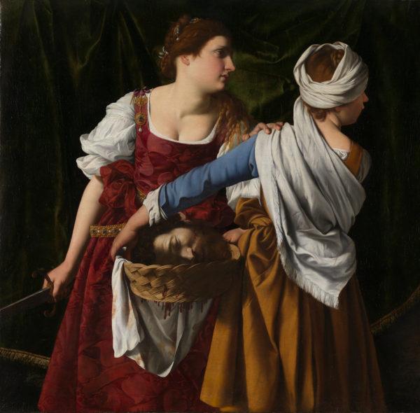 Юдифь и её служанка с головой Олоферна