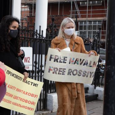 Акция в поддержку Навального в Лондоне: как это было